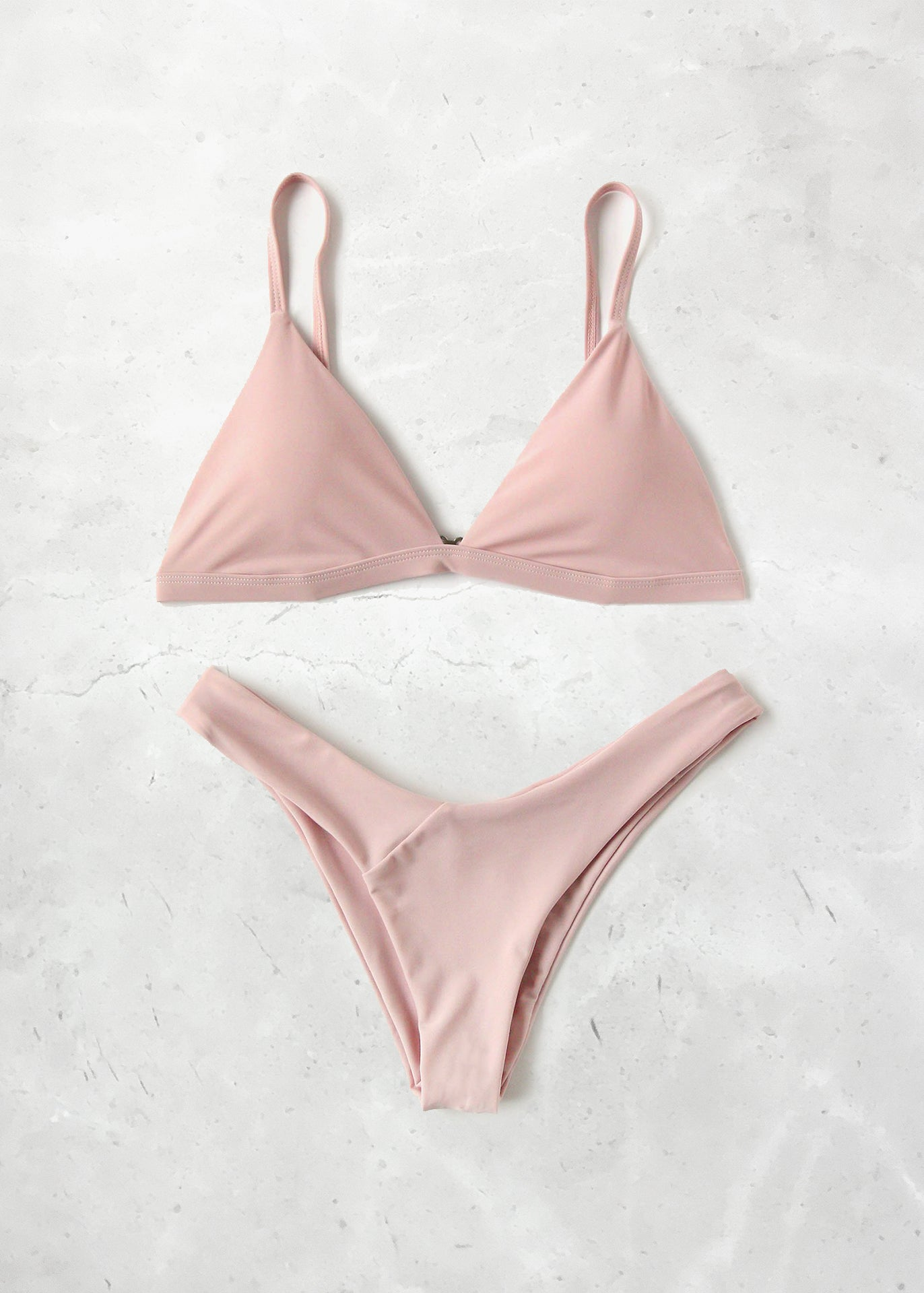 Rose Triangle Bikini