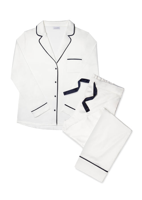 Blanc White Trouser Pyjama Set