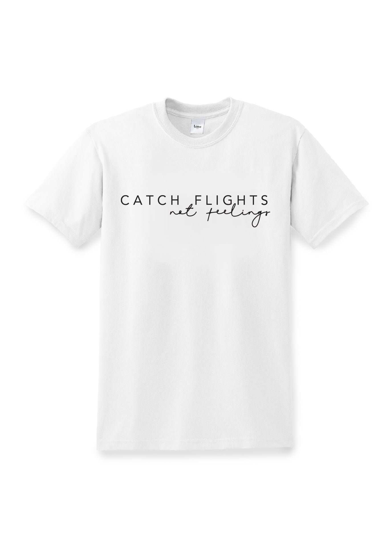 White Catch Flights T-Shirt