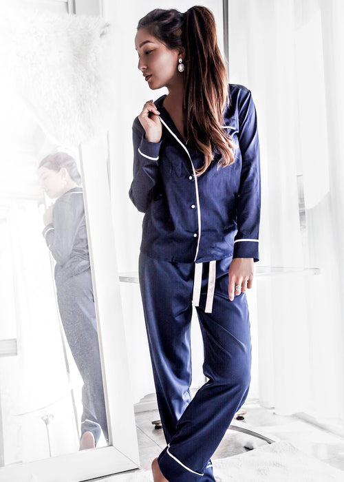 Hague Blue Trouser Pyjama Set