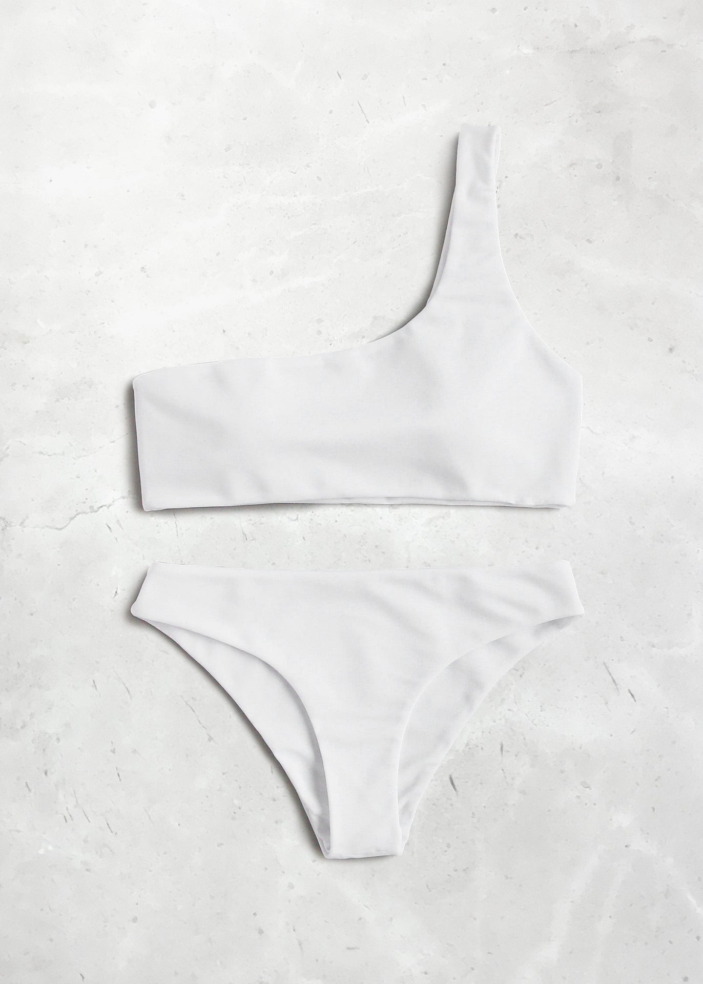 Blanc One Shoulder Bikini