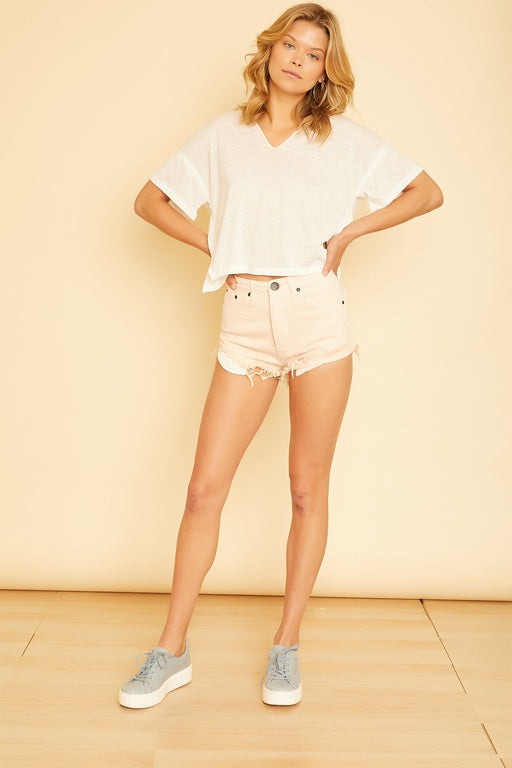 Alexandria Rolled Up Denim Shorts - wearNYLA