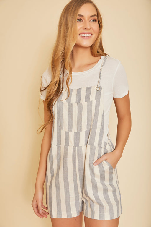 Riviera Striped Playsuit