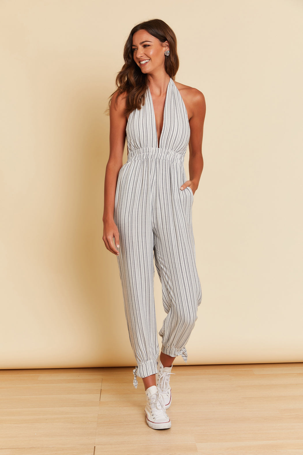 Amie Striped Jumpsuit - wearNYLA