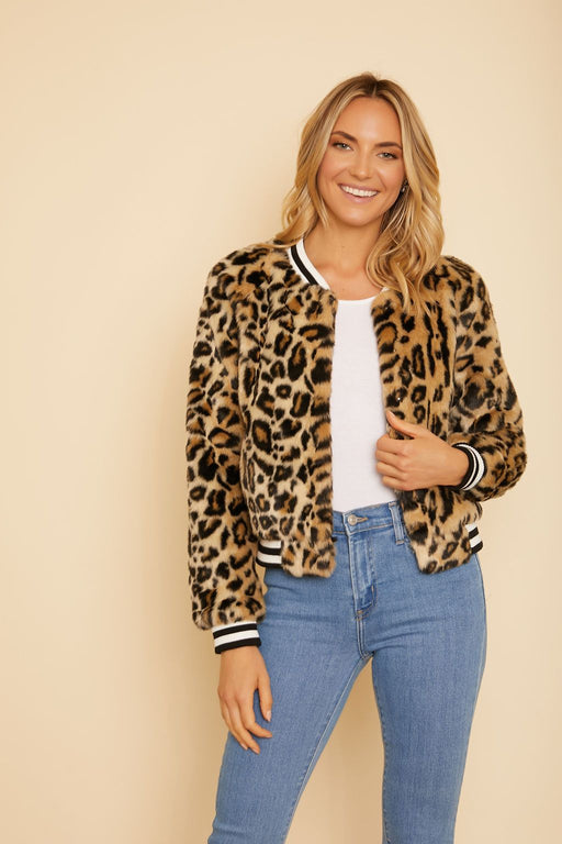 Clever Girl Faux Fur Bomber - wearNYLA
