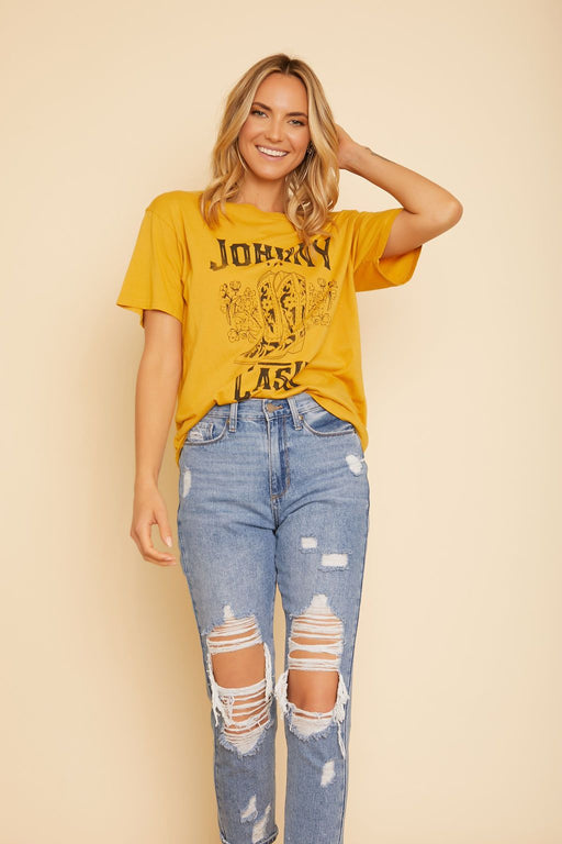 Johnny Cash Boots and Boyfriend Tee - wearNYLA
