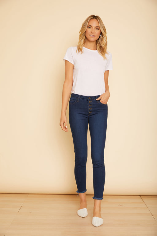 Button Down Skinny Jeans - wearNYLA