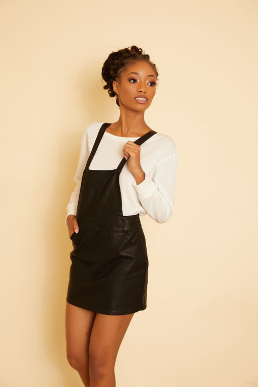 Twice Shy Leather Pinafore - wearNYLA