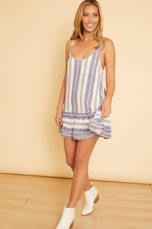 Johanna Stripe Print Mini Dress - wearNYLA