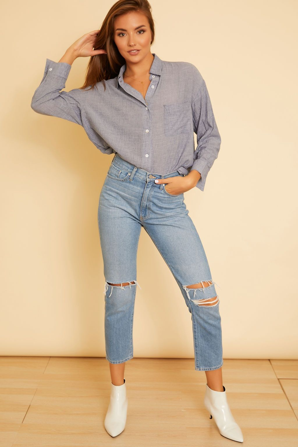 Sienna Chambray Shirt - wearNYLA