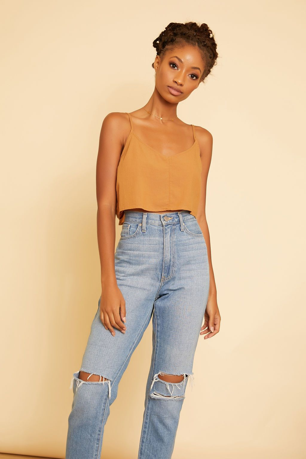 Holly Tie Back Crop Tank - wearNYLA