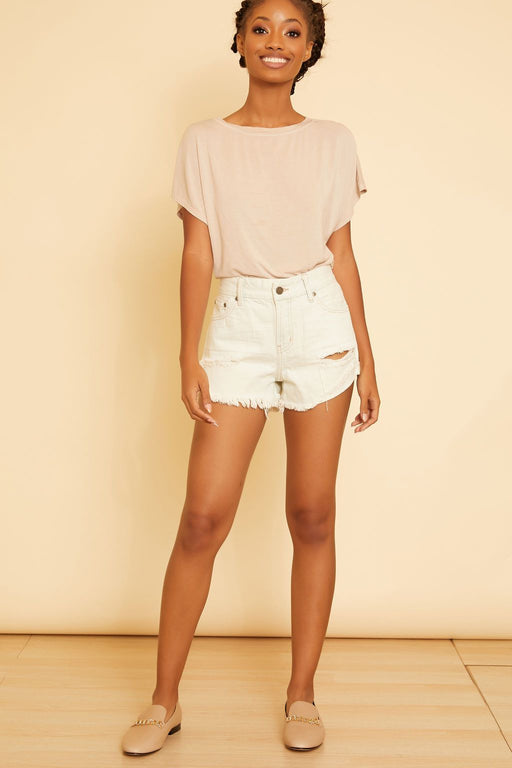 Destroyed Denim Shorts - wearNYLA