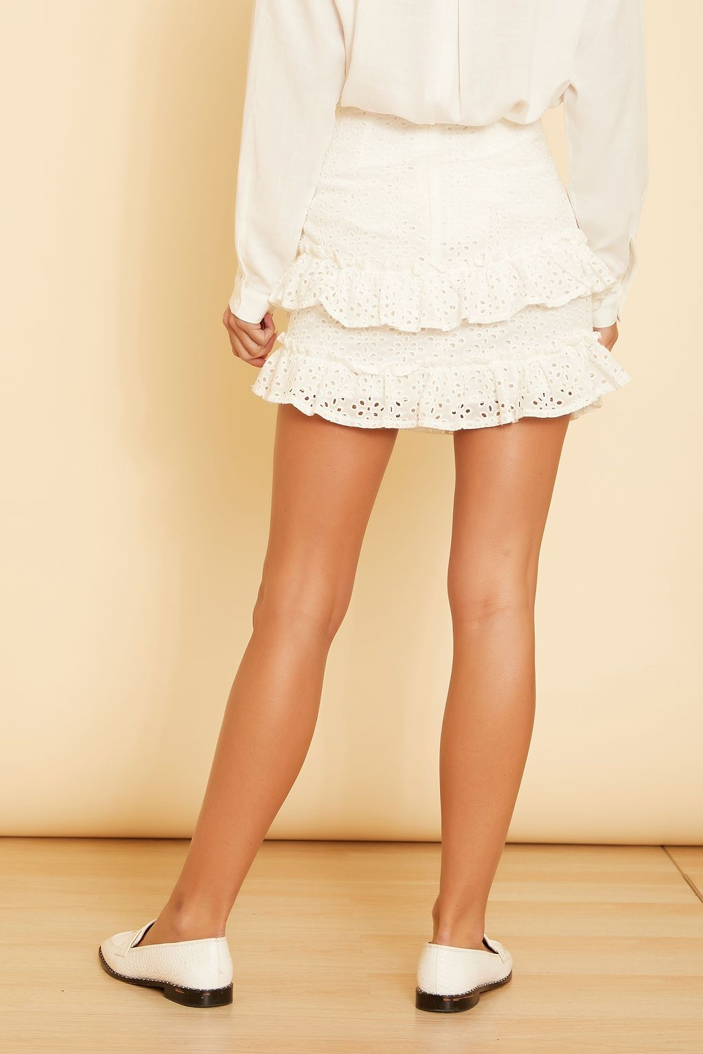 Alora Eyelet Mini Skirt - wearNYLA