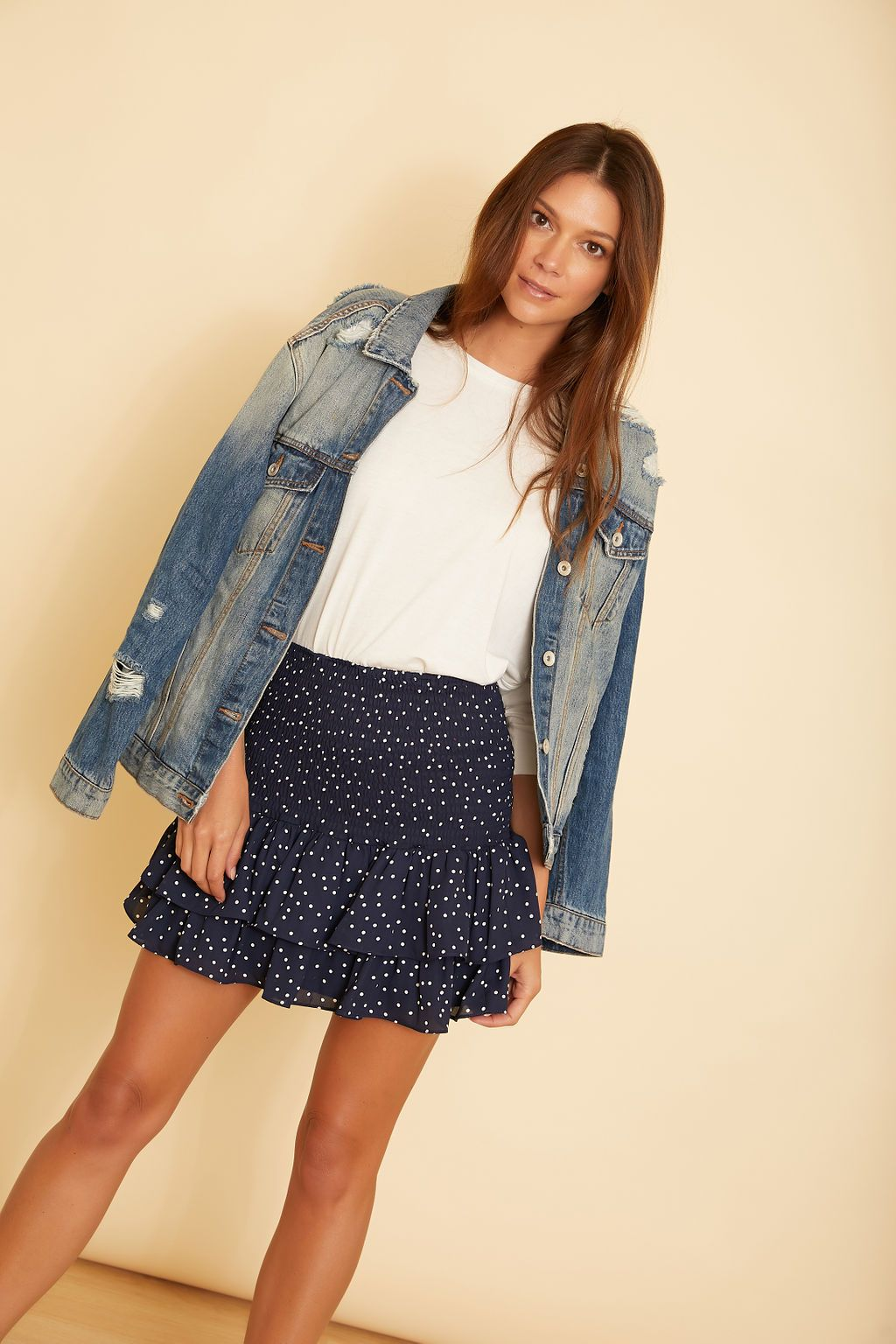 Connect the Dots Ruffle Skirt - wearNYLA