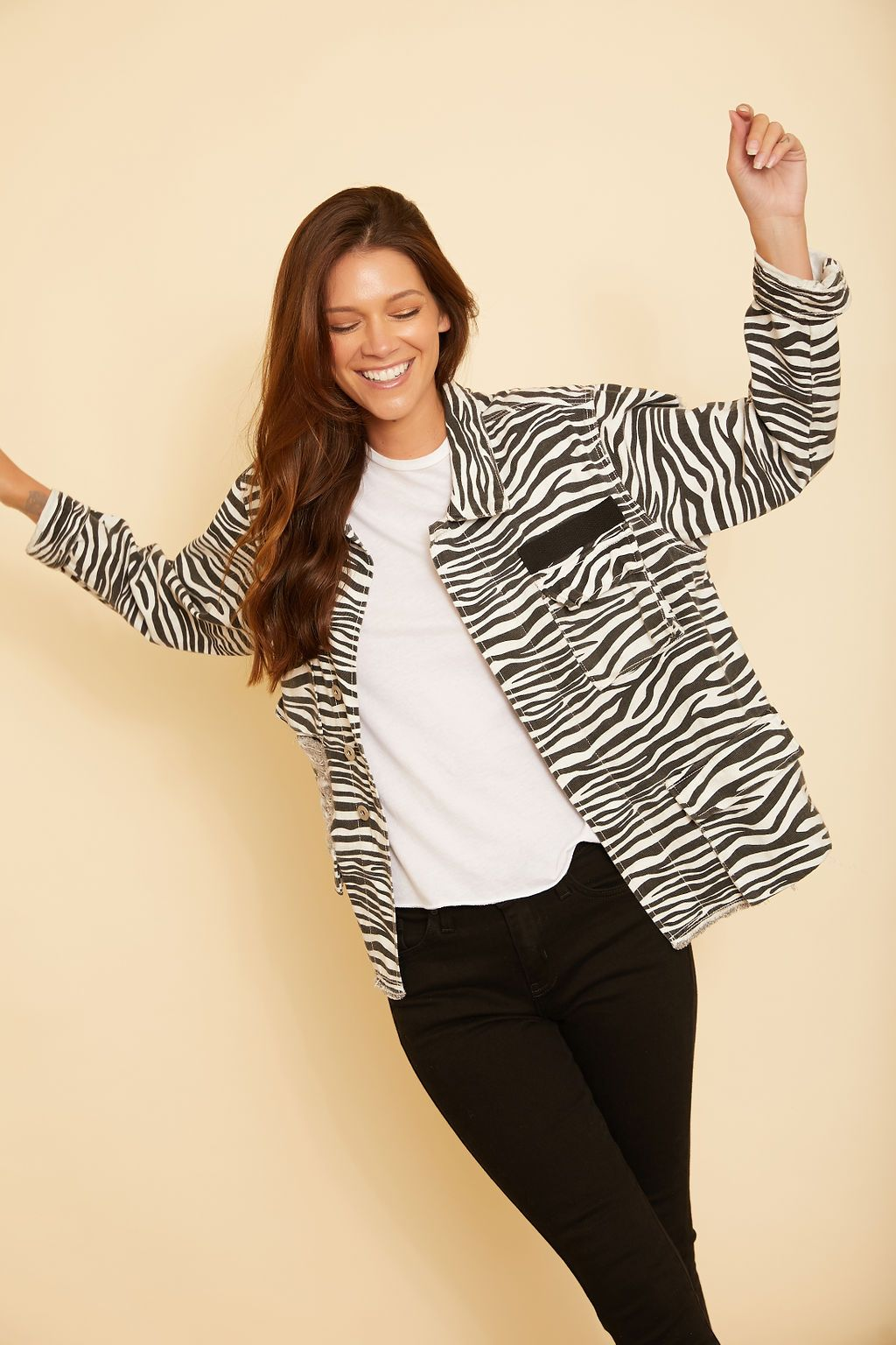 Brooklyn Zebra Print Jacket - wearNYLA