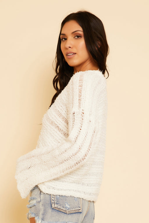 Jayne Knit V-Neck Sweater - wearNYLA