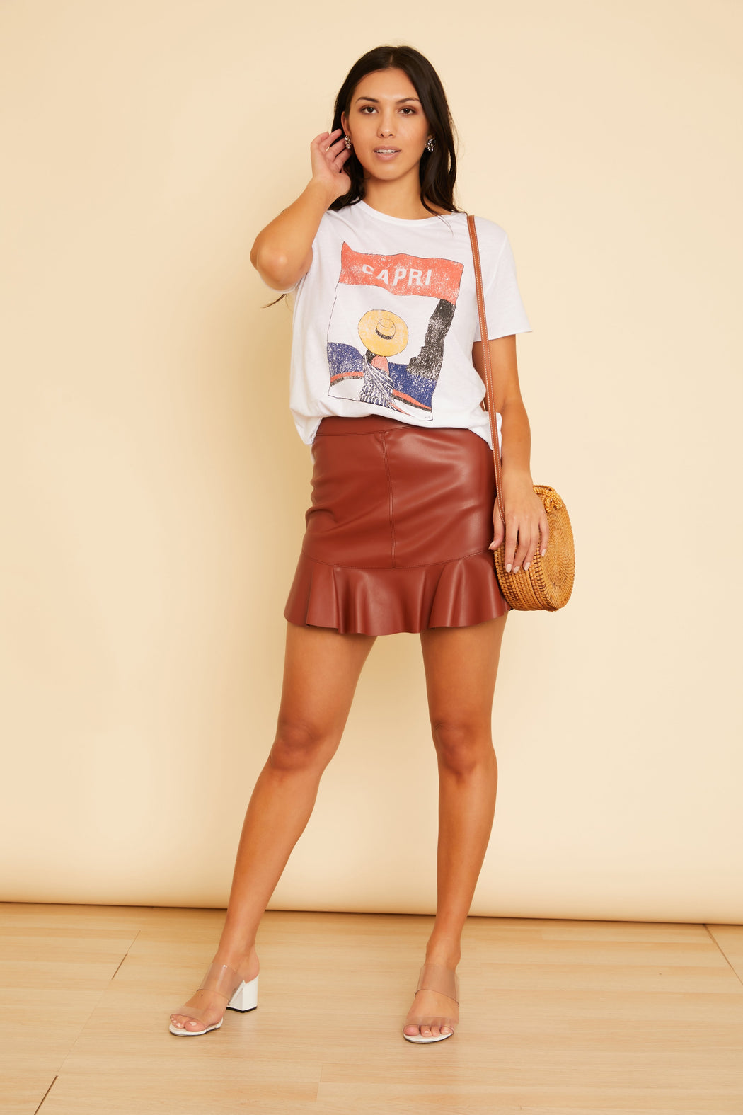 Veni Vidi Vici Leather Skirt