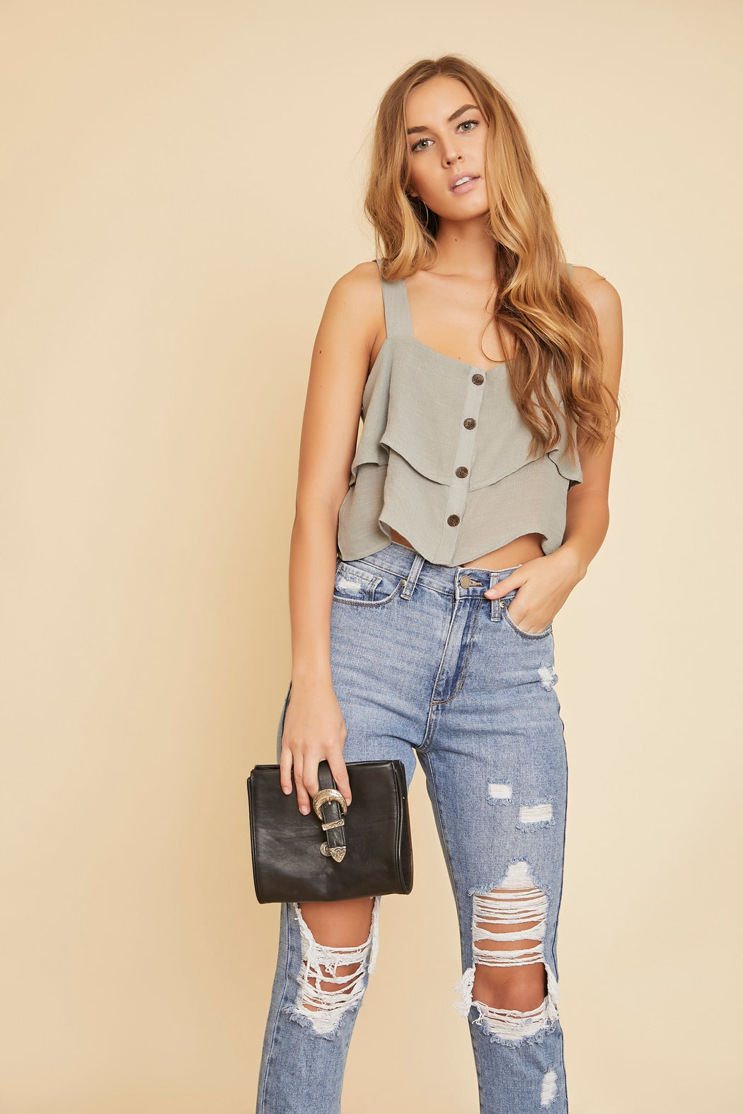 Maya Front Button Tank - wearNYLA