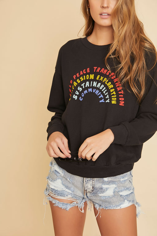 Swanville Rainbow Sweater