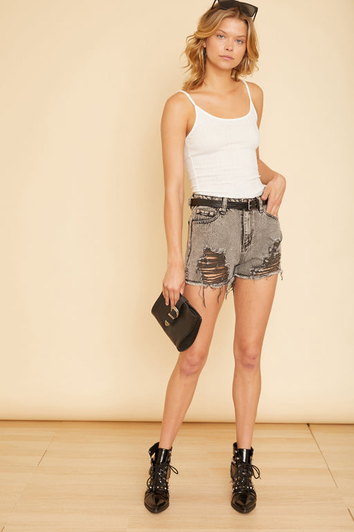 Distressed Denim Shorts - wearNYLA