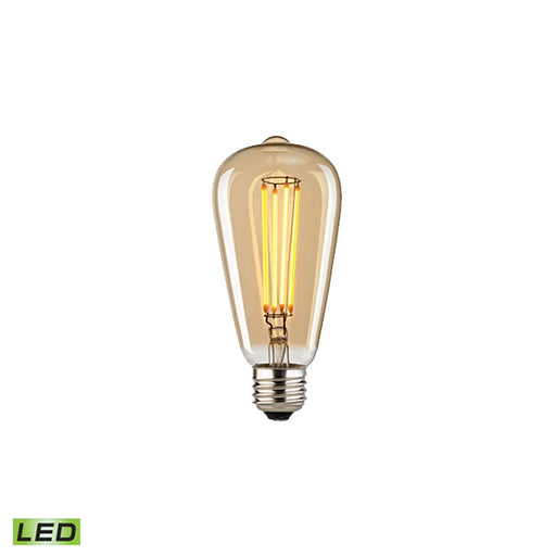 MEDIUM BASE LED 4-WATT EDISON BULB WITH LIGHT GOLD TINT