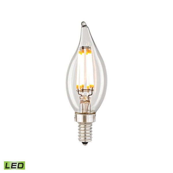 LED BULB - 6 WATTS, B11 E12 CANDELABRA BASE, 2700K
