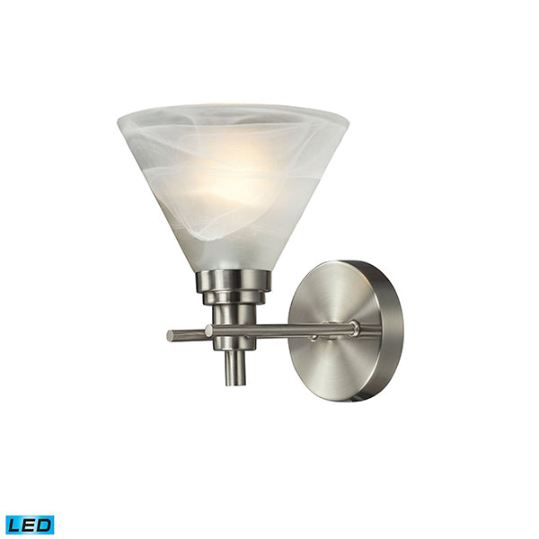 PEMBERTON 1 LIGHT BATH IN BRUSHED NICKEL - LED OFFERING UP TO 800 LUMENS (60 WATT EQUIVALENT)