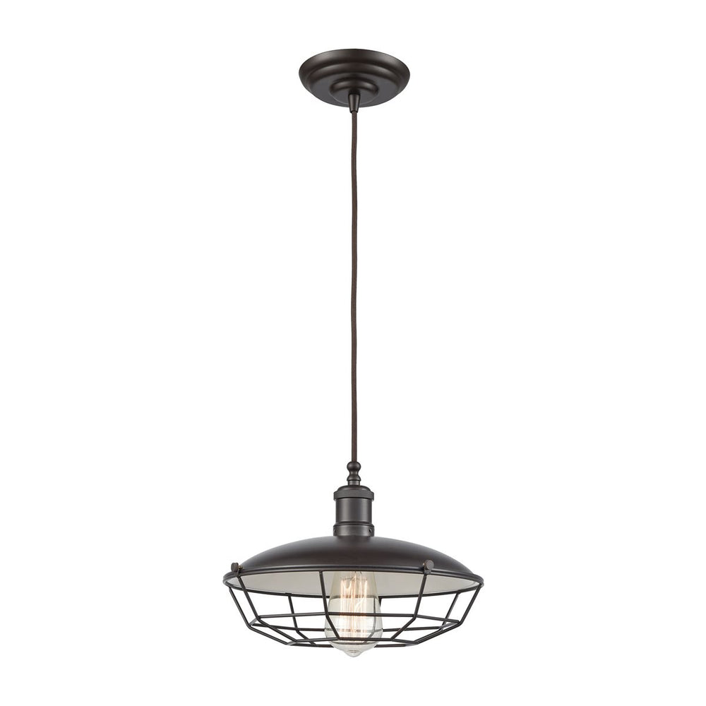 WAREHOUSE PENDANT 1 PENDANT OIL RUBBED BRONZE