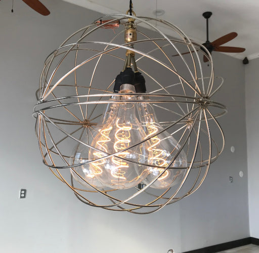 3 Light Large Mod Orb Chandelier