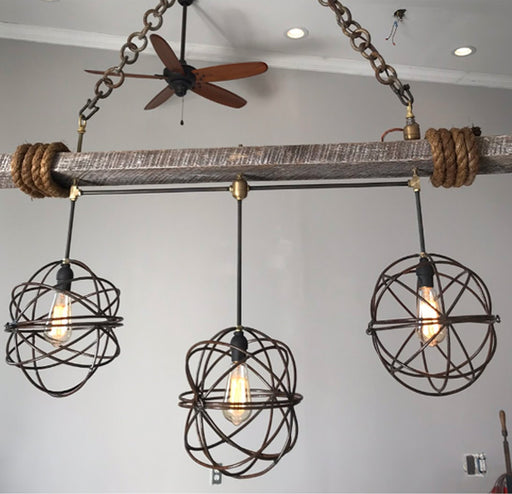 3-Light Mini Orb Chandelier