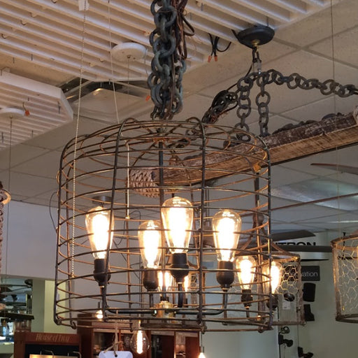 4 Light Mod Basket Chandelier