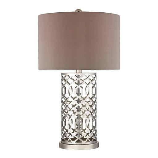 LASER CUT METAL TABLE LAMP IN POLISHED NICKEL