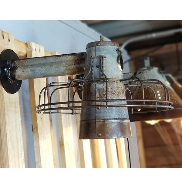 Authentic Chicken Feeder With Cage Wall Sconce