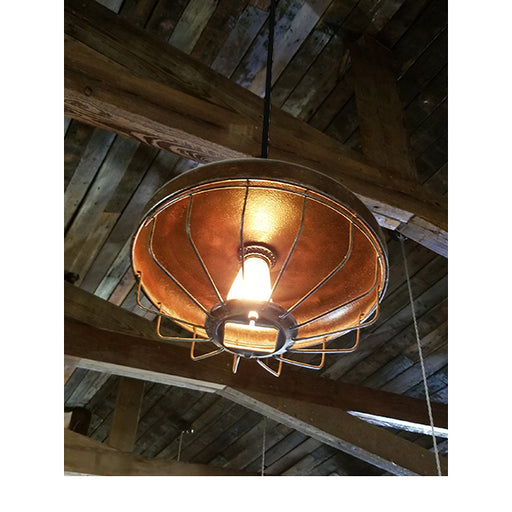 Custom Authentic Chicken Feeder Pendant Light