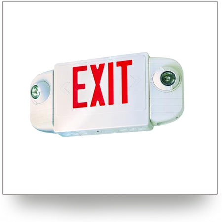 LED Exit Sign and Emergency Light Combo