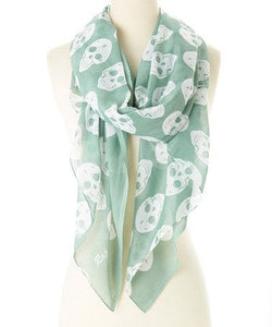Cotton Skull Scarf