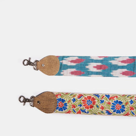 Raj Navy Floral Thick Belt Strap