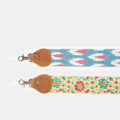Red Floral Thick Guitar Strap