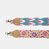 Raj Purple Floral Thick Guitar Strap