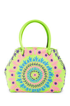 Raj Embroidered Neoprene Tote
