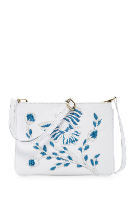 Raj Bag White Embroidered