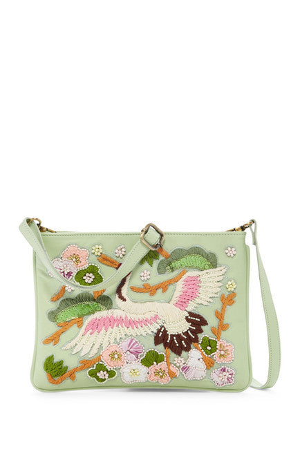 Raj Bag Sage Embroidered