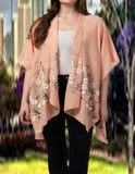 Raj Machine Embroidered Kimono - Rajimports - Women's Clothing