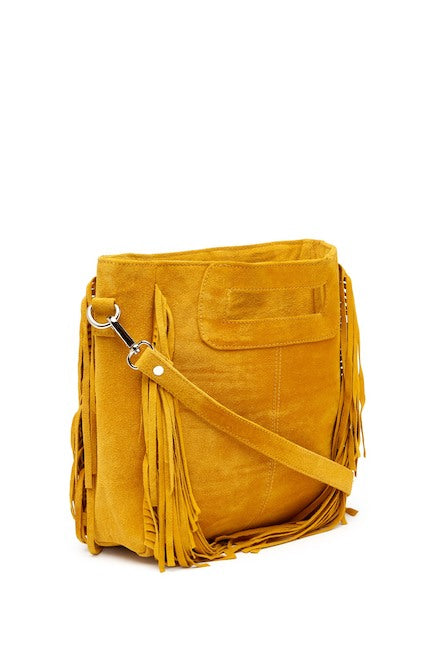 Little Yellow Suede Bag