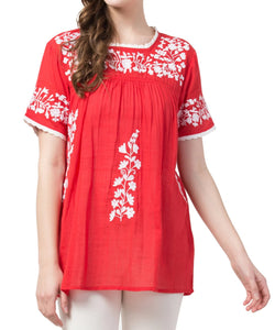 Raj Machine Embroidered Top - Rajimports - Women's Clothing