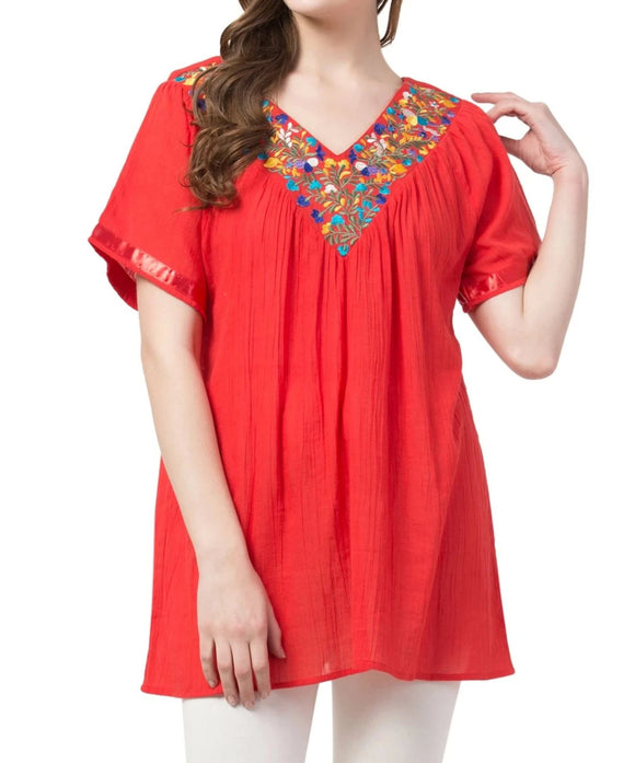 Raj Embroidered Tunic - Raj Imports