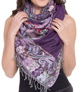 Rayon Embroidered Scarf