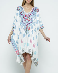 Raj Woven Stitch Kaftan - Rajimports - Women's Clothing