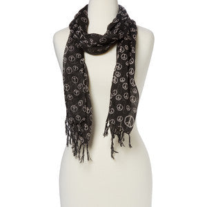 Raj Scarf Peace Sign - Raj Imports
