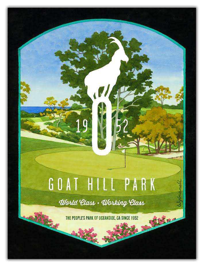 Renowned Golf Artist Lee Wybranski Collaborates with Goat Hill Park
